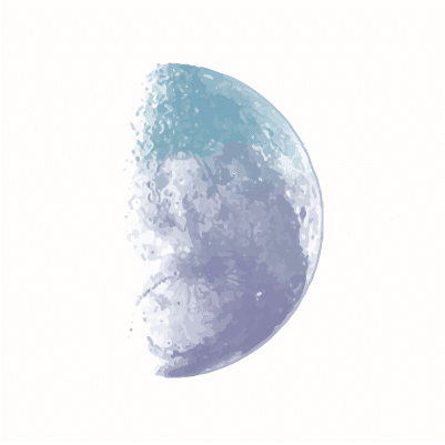 Moon Phases - First Quarter