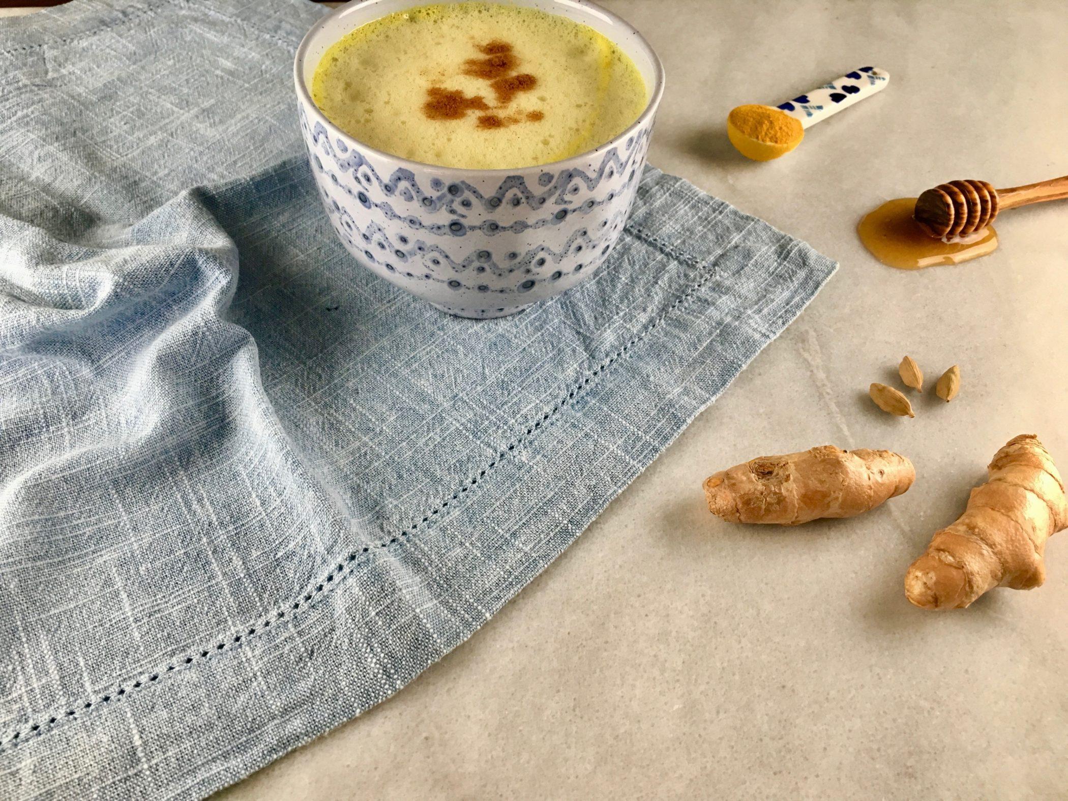 Simple Turmeric Latte Recipe Blog Image